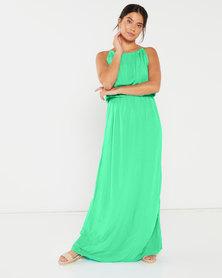 Utopia Viscose Grecian Dress Mint