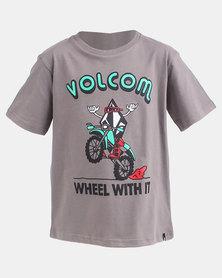 Volcom Boys Wheel With It T-Shirt Sedona