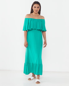Slick Anja Off Shoulder Styled Dress Jade