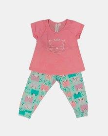 Cotton Club Kids Kitty Spring Pyjama Set