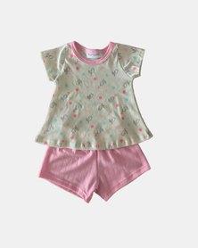 Cotton Club Kids Bird Summer Pyjama Set