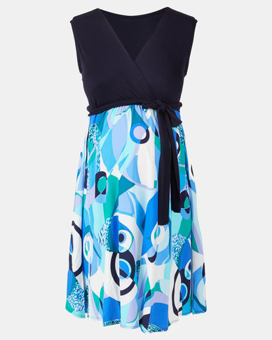 Absolute Maternity Abstract Print Skater Dress