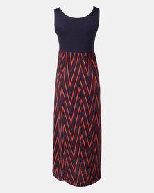 Absolute Maternity Chevron   Maxi Dress
