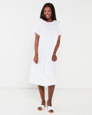 Utopia Linen Tunic Dress White