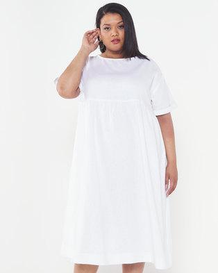 Utopia Plus Linen Tunic Dress White
