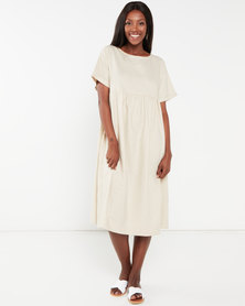 Utopia Linen Tunic Dress Stone