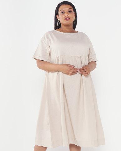 Utopia Plus Linen Tunic Dress Stone