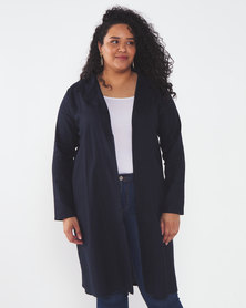 Utopia Plus Linen Shacket Navy