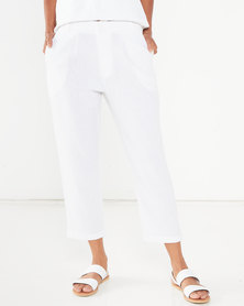 Utopia Linen Trousers White