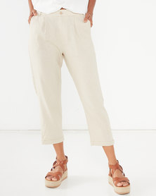 Utopia Linen Trousers Stone