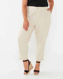 Utopia Plus Linen Trousers Stone