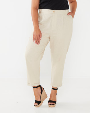 Utopia Plus Linen Trousers Stone