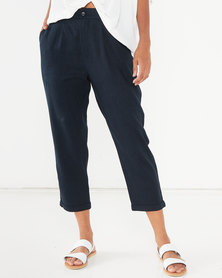 Utopia Linen Trousers Navy