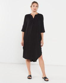 Utopia Viscose Tunic Dress Black