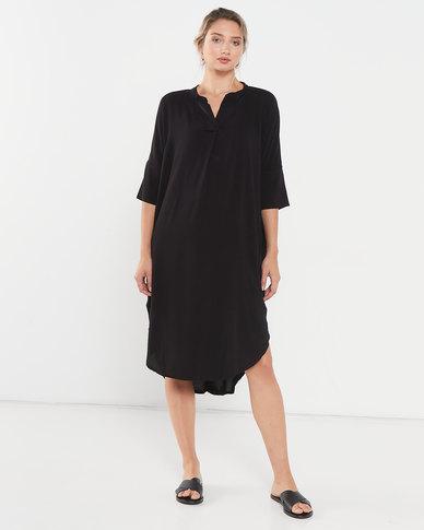 Utopia Viscose Tunic Dress Black