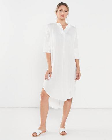 Utopia Viscose Tunic Dress White
