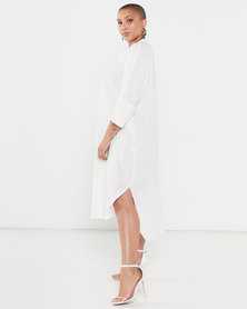 Utopia Plus Viscose Tunic Dress White