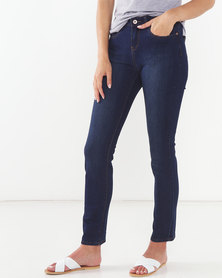 Jeep Straight Leg Stretch Denim Jeans Indigo