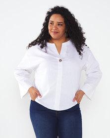 Utopia Plus Linen Tunic White