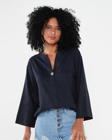 Utopia Linen Tunic Navy