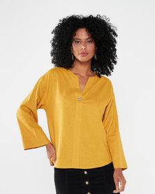 Utopia Linen Tunic Mustard