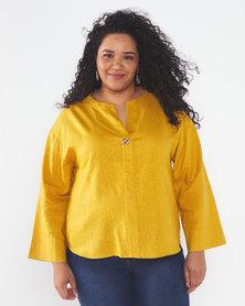 Utopia Plus Linen Tunic Mustard
