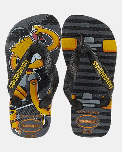 Havaianas Kids The Simpsons Sandals Grey