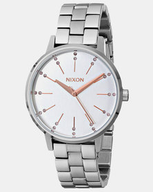 Nixon Kensington Crystal Watch Silver / Light Gold