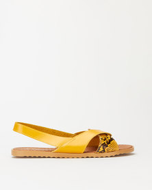 Utopia Wavy Slingback Sandals Yellow
