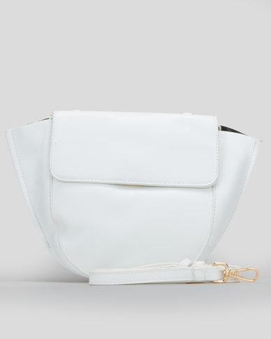 Blackcherry Bag Oragami Top Handle Bag White