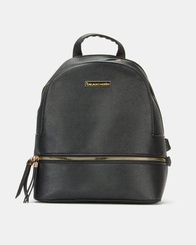 Blackcherry Bag Minimal Backpack Black