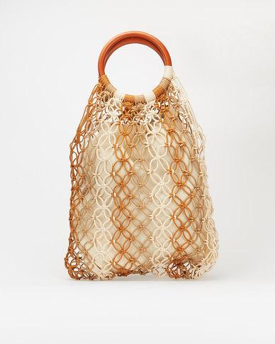 Blackcherry Bag Crochet Shopper Bag Natural / Beige