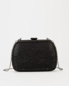 Blackcherry Bag Diamante Clutch Bag Black