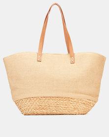 Blackcherry Bag Natural Straw Woven Shoulder Bag Neutral