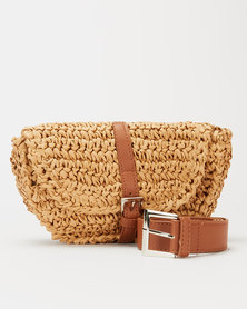 Blackcherry Bag Natural Straw Belt Bag Neutrals