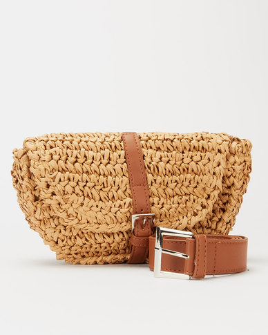 Blackcherry Bag Natural Straw Belt Bag Neutrals