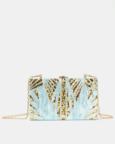 Blackcherry Bag The Tropics Resin Clutch Bag Blue