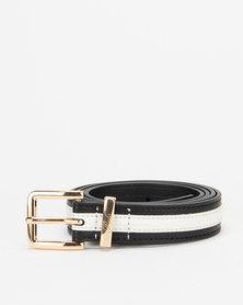 Polo Belts Jayne Two Tone Belt Black