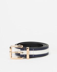 Polo Belts Jayne Two Tone Belt Navy