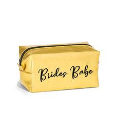 Love & Sparkles Gold Brides Babes MakeUp Cosmetic Bag