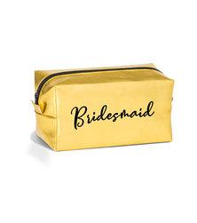 Love & Sparkles Gold Bridesmaid MakeUp Cosmetic Bag