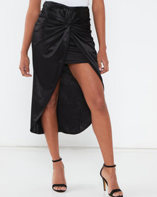 Sissy Boy Boity Draped Twin Set Skirt Black