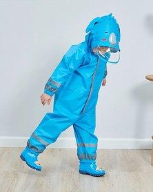 Iconix Kids One Piece Animal Raincoat - Blue Koala Bear