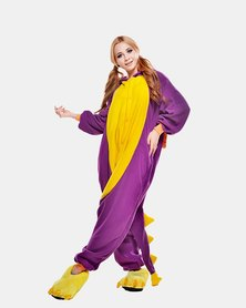 Iconix Purple Dragon Styled Onesie for Adults