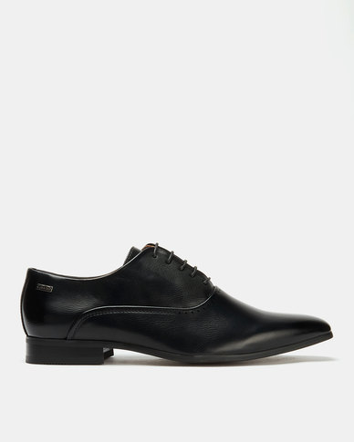 Gino Paoli Aniline Formal Lace Up Shoes Black