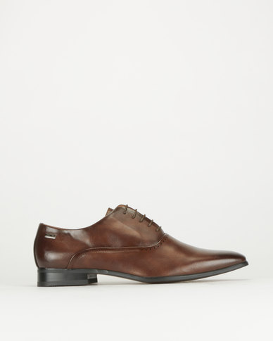 Gino Paoli Aniline Formal Lace Up Shoes Brown