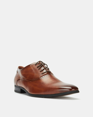 Gino Paoli Aniline Formal Lace Up Shoes Tan