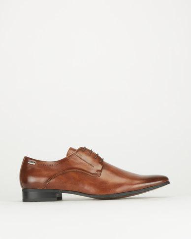 Gino Paoli Aniline Formal Lace Shoes Tan