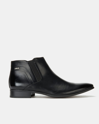 Gino Paoli Aniline Slip On Boots Black