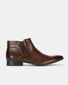 Gino Paoli Aniline Slip On Boots Brown